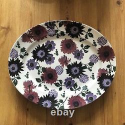 Emma Bridgewater Liberty Dark Dahlia Medium Oval Platter. Tout Neuf. 1ère Qualité