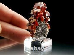 Faisceau Rouge De Flotteur De Cristal De Vanadinite De Haute Qualité Avec La Matrice Foncée