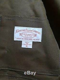 Filson Manteau Tin Tissu Packer Foncé Tan Deuxième Qualité XL Msrp Hommes 450 $