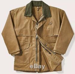 Filson Tin Cloth Packer Coat Foncé Tan Deuxième Qualité Hommes 2xl Long Tno Pdsf $ 450