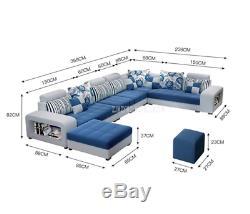 Forme De U Molle De Conception Moderne De Meubles De Maison De Sofa De Salon De Qualité