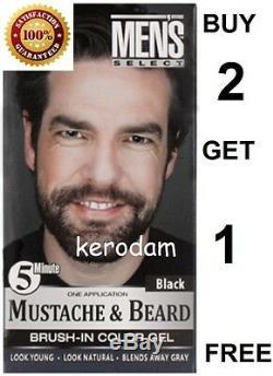 Gel Pour Hommes 5 Minutes Avec Choix De Moustache Et Barbe Pour Cheveux Colorant Brun Foncé Ou Noir