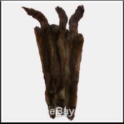 Glacier Wear Sable Martre Fur Pelt Cacher Brun Foncé Canadian Select