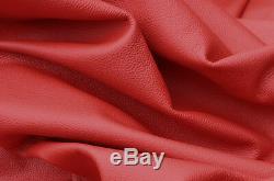 Grand Cuir Rouge Foncé Full 40 Sq Ft Hide Qualité Cuir Véritable Grain