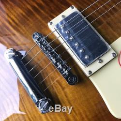 Guitare Électrique Lp De Qualité Supérieure Avec Custom 1959 R9 Dark Buracco Maple Burst Maple
