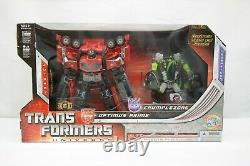 Hasbro Transformateurs Univers Optimus Prime Et Crumplezone Hasbro 2008 Ty