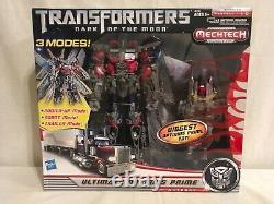 Hasbro Transformers Dark Of The Moon Mechtech Ultimate Optimus Prime Action. Nouveau