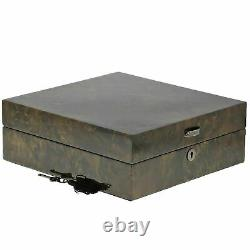 Haute Qualité Dark Burl Montres Collectionneurs Boîte Pour 12 Montres Avec LI Massif