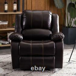 Haute Qualité Type A Chaise Fonctionnelle Fauteuil Inclinable Sofa Leathe Pu Cuir Brun Foncé