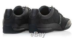 Hugo Boss Chaussures De Sport En Cuir Pour Hommes Chaussures Space Select Bleu Foncé