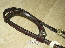 Huile Noire De Haute Qualité Laced Rawhide Western One Ear Silver Show Headstall Bridle