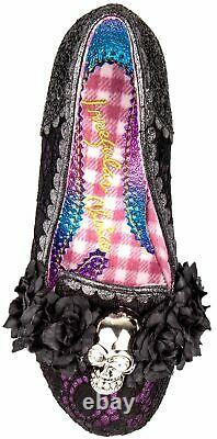 Irregular Choice X Halloween Dark Daydream Black Womens Court Chaussures