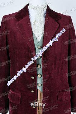 Les Hobbits Bilbo Baggins Costume Cosplay Costume Outfit Veste Rouge Foncé