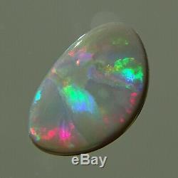 Lightning Ridge Natural Foncé Opal 1.7ct Bonne Qualité Multicolor Feu Watchvideo