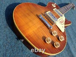 Livraison Gratuite Haute Qualité Dark 1959 R9 Tiger Flamed Guitare Electrique Standard