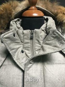 Made In Italy Laine Tissu Qualité Warm Parka Vers Le Bas Fur Coat Cappotto Piumino