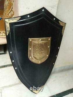 Medieval Dark Knight Armor Templar Shield Reconstitution Meilleure Qualité De L'armure