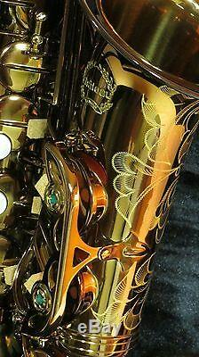 Modèle Étudiant De Qualité Supérieure Finition De Laque Sombre Pour Saxophone Chateau Alto (cas-50c)