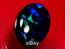 Motif De Couleur Bleu Vert Foncé De Qualité Supérieure Avec Opale Naturelle Noire Solide 4.54 Carat