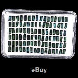Naturel Tourmaline Indicolite 96 Pièces 4 MM / 2 MM Vert Foncé Deluxe Qualité Gemstones