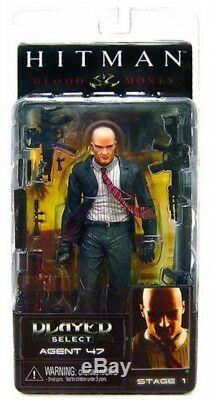 Neca Hitman Joueur Select Series 1 Agent 47 Action Figure Costume Sombre