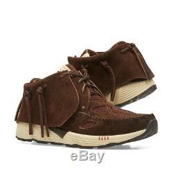 Nib Visvim Fbt Prime Runners Suede Sneakers (brun Foncé) Prix Conseillé 1300 $
