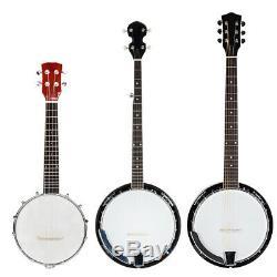 Nouveau 4/5/6 Cordes Banjo Haute Qualité Avec Dos Fermé Supports De La Tête Et Du Cou D'érable