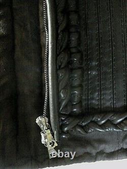 Nouveau Aquascutum Ladies Dark Brown Quality Leather Basque Size 8 Steampunk Rare