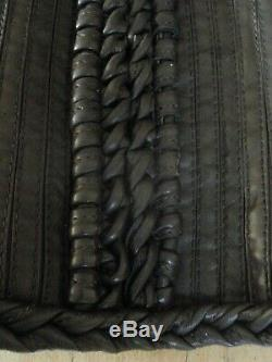 Nouveau Aquascutum Mesdames Cuir Marron Foncé Qualité Basque Taille 8 Steampunk Rare