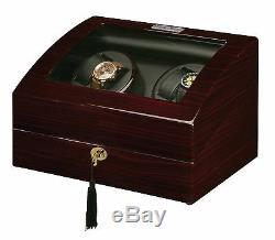 Nouveau Boîtier De Montre Winder Box Diplomat De Haute Qualité Diplomat Quad 4 + 6