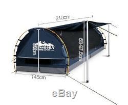 Nouveau Double Taille Dôme Toile Tente Bleu Foncé Camping Imperméable De Haute Qualité