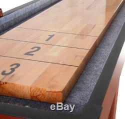 Nouveau Jeu Amusant De Bowling Avec Table De Jeu De Palets Intérieur Cerisier Foncé De Qualité Supérieure