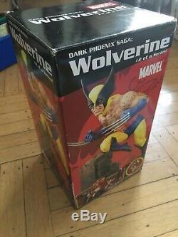 Nouveau! Marvel Foncé Phoenix Saga Wolverine X-men Statue Diamond Select Résine # 2