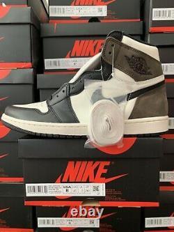 Nouveau Nike Air Jordan 1 Rétro High Dark Mocha 555088 105 Gs/men Sz 4y-14