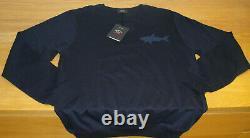 Nouveau Paul & Shark Sweatshirt Blue Size Large Shark Fit Superb Quality Great Top