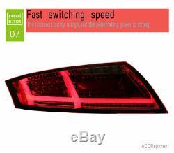 Nouveau Pour Audi Tt Feux Led 2006-2013 Ou Noir Led Rouge Lampes Arrière Qualité
