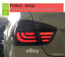 Nouveau Pour Bmw E90 Feux Led 2005-2008 Foncé Ou Led Rouge Arrière Lampes De Qualité