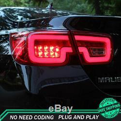 Nouveau Pour Chevrolet Malibu Feux Led Rouge Foncé Ou Led Arrière Lampes Qualité 13-15