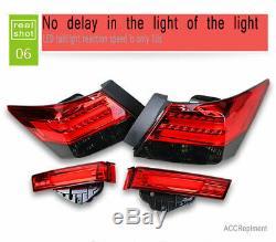 Nouveau Pour Honda Accord Feux Led Ou Led Noir 2008-2012 Rouge Arrière Lampes De Qualité