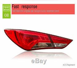 Nouveau Pour Hyundai Sonata 8 Feux Led 11-14 Noir Ou Led Rouge Arrière Lampes De Qualité