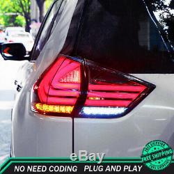 Nouveau Pour Nissan Rogue Feux Led 2014-2019 Foncé Ou Led Rouge Arrière Lampes De Qualité