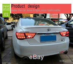 Nouveau Pour Toyota Mark X Feux Led Rouge Foncé Ou Led Arrière Lampes Qualité 2013-17