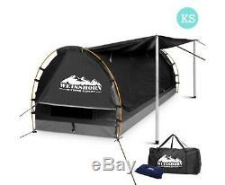 Nouveau Roi Unique Taille Dôme Toile Tente Gris Foncé Camping Imperméable De Haute Qualité