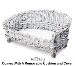 Nouvelle Qualité Main De Luxe En Osier Chien Chat Canapé Canapé Coussin Couverture Lits