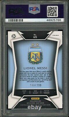 Panini Select 65 Lionel Messi Maillot Bleu Foncé Prizm Psa 9 46925766