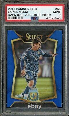 Panini Select 65 Lionel Messi Maillot Bleu Foncé Prizm Psa 9 47025545