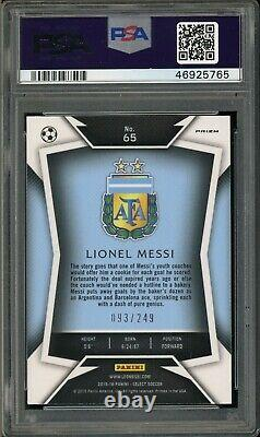 Panini Select 65 Lionel Messi Maillot Bleu Foncé-camo Prizm Psa 9 46925765
