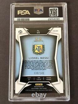 Panini Select Lionel Messi 2015-16 #65 Dark Blue Jersey Orange /149 Psa Gem Mint