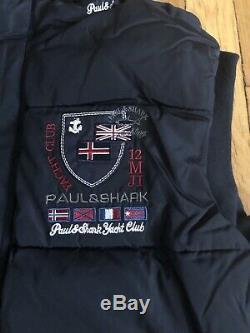 Paul & Shark Yachting Matelassée Gilet Bleu Foncé Hommes Taille L Qualité