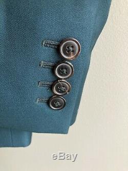 Paul Smith. Blazer Vert Foncé. Superbe Qualité. Taille 38. 100% Laine. Bnwt